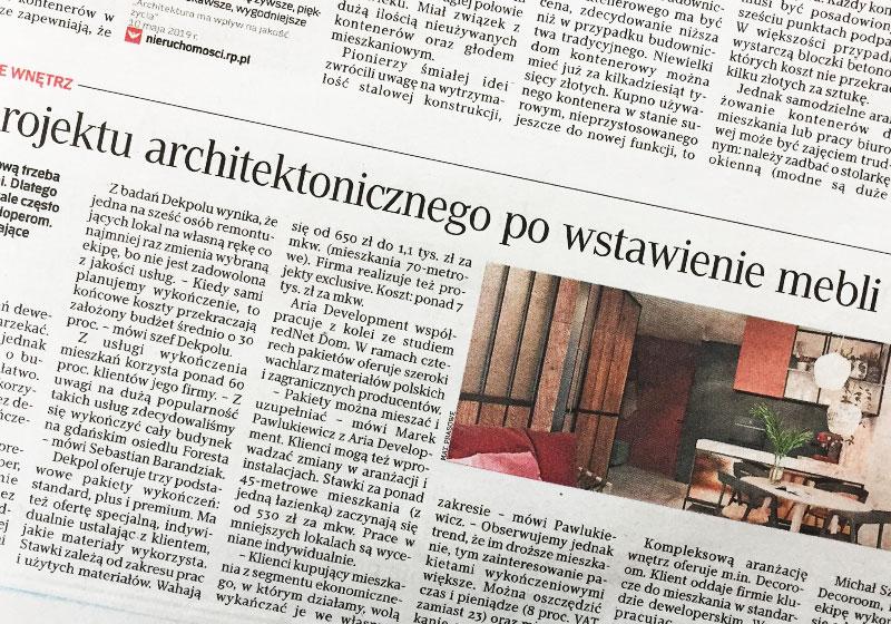 ARIA Development na łamach Rzeczpospolitej